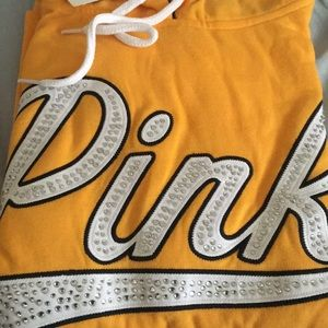 Gold pink bling pullover sweater